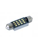 [LED autožárovka sulfid C7W 39mm Canbus bílá 4th Gen.]